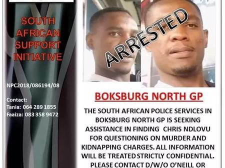 Most Wanted Zimbabwean Suspect Finally Apprehended By SAPS.