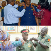 Why Do Women Always Take Part In Decorating Military Officers With New Ranks? Check Out These Photos