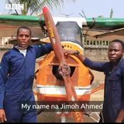 3 Nigerian Men Built An Airplane From Scrap, See How People Reacted