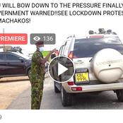 You Will Bow Down To The Pressure, Government Warned By Machakos Protestants Following Lockdown