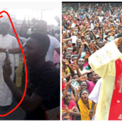 EndSARS: See how the powerful Catholic priest, Ebube Muonso was protesting today