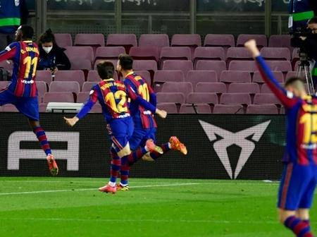 Ousmane Dembele volleyed in a 90th-minute winner against absolutely Valladolid