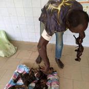 La police an arrêté un voleur de viande de brousse dans un maquis à abobo djibi-village à 2h du matin