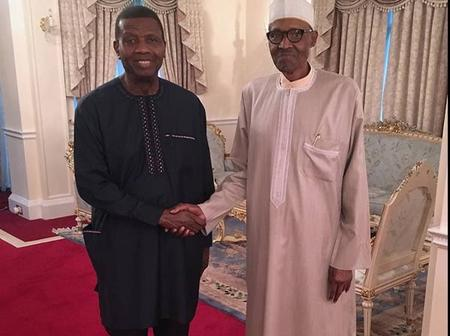 Check Out Throwback Photos of RCCG GO, Pastor Adeboye During Buhari's Medical Trip in 2017