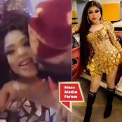 Moment A Man Was Seen Pecking Bobrisky At An Undisclosed Location