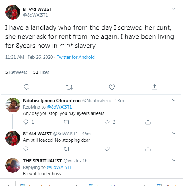 I Have Been Satisfying My LandLady on Bed For 8yrs Without Paying Rent- Man Confess. 1