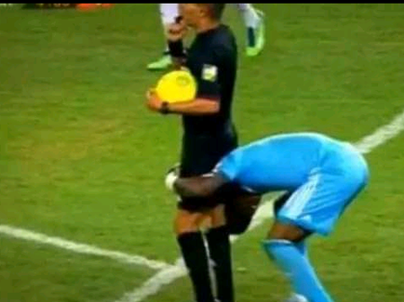 Flashback: The Day Nigerian Goalkeeper Vincent Enyeama Nearly Lifted the Referee