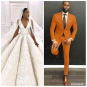 2021: Check Out Wedding Gowns And Suits For Men And Women