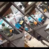 Reactions as Young boy is flogged mercilessly in Ghana for not wearing a face mask by military men