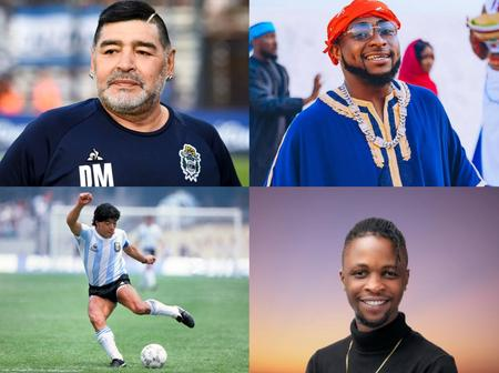 See what Davido and Laycon said after Diego Maradonna was announced dead