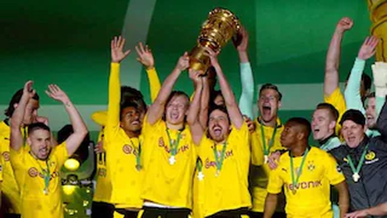 Erling Braut Haaland, Jadon Sancho score two each as Borussia Dortmund win German Cup final-Sports News