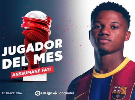 Ansu Fati Claims LaLiga player of the month for September ahead of Lionel Messi and others.