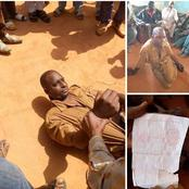 Man was caught in cemetery, While trying to put an Arabic Inscription in a grave [Photos]