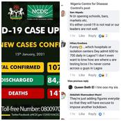 Nigerians Reacts As NCDC Released The Highest No. Of Covid-19 Cases Few Hours Ago
