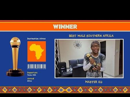 Master Kg wins the award of being the best male artist in Southern Africa