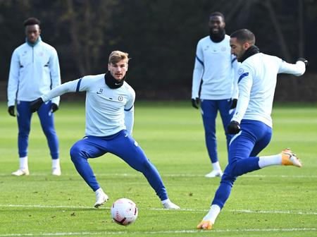 See Photos of Chelsea's Players Training Ahead of Southampton Game