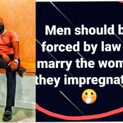 See what this man said should be done to men who impregnate women outside wedlock that got reactions