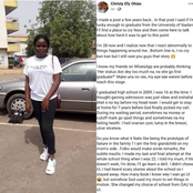 After Graduating from UI, Lady Narrated Her Struggle Before She Was Admitted To University