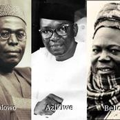 Throwback: How Awolowo, Azikiwe and Ahmadu Bello 'Clashed' During Pre-Independence Trip To Britain