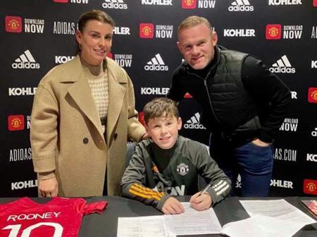 Another King! Man united Signs Wayne Rooney Son Kai, And Hands Him Legendary no. 10 Shirt