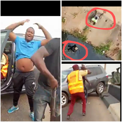 See The Dangerous Thing A Driver Did To A Policeman In Lagos That Sparked Reactions Online