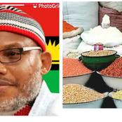Nnamdi Kanu says blocking foodstuff from North to south is an act of war.