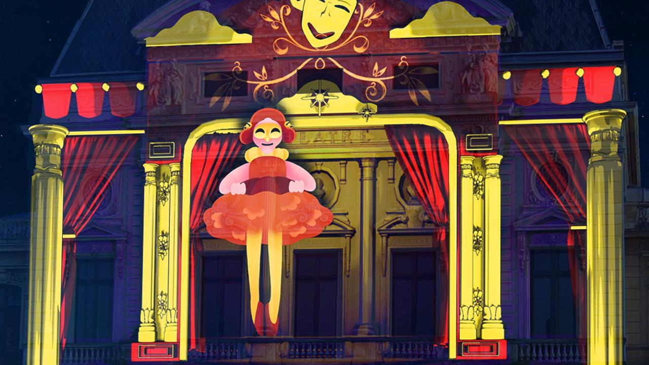 Cherbourg : un spectacle lumineux projeté sur la façade du théâtre à l'Italienne