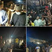 Photos Of Zulum That Stormed IDP Camp At Midnight, Discovers 650 'Ghost Households.