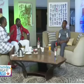 Sa Mbona Mnamtempt! Internet Erupt As Omosh Attends An Interview That Had Alcohol Being Displayed