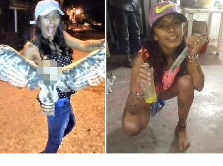 See the photo of the Lady that was shot to death after killing an owl in colombia