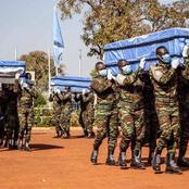 Cérémonie d'hommage aux quatre Casques bleus ivoiriens décédés à Tombouctou