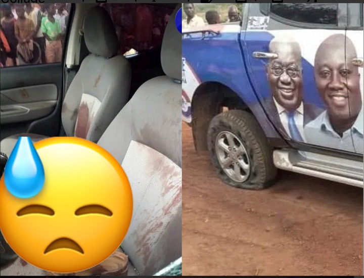 977ce81033e47b9538d8976539d98a5d?quality=uhq&resize=720 - The Car Tyre Was Shot First: Finally, Scenes From Where The NPP Mfantseman MP Was Shot Drops (Photos)