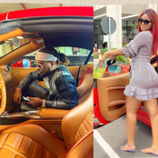 Does It Mean That Rudeboy Posed In Regina Daniels Car? See What She Said Posing With The Same Car!