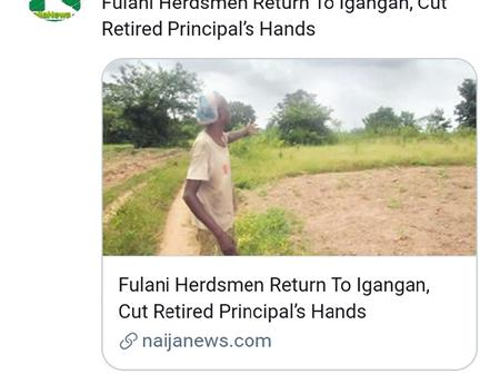 Headlines Today:Fulani herdsmen return to igangan, IGP under pressure to arrest Igboho