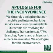 Co-Op Bank apologizes to Internet and Mobile banking Customers for Delays