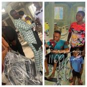 Pastor Buys Wheelchair For Crippled Man Who Came To His Church With His Wife To Dedicate His Baby