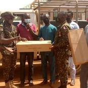 U/W: MP presents streetlights to Immigration Service at Hamile border