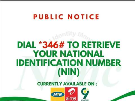 Check Out 2 Basic Steps On How To Retrieve Phone Number Registered On NIMC