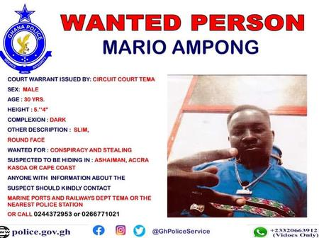 Four People in Tema Declared Wanted In Less Than 72 Hours