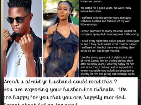BBNaija: Nigerian Reacts As Lady Alledge Laycon For Dating Her For Five Years