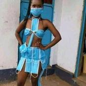 Checkout the best female outfit of the month designed with facemasks in the year 2021- Opinion