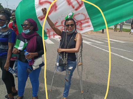 ENDSARS:Check out How Much Nigerians raised Within 12 Hours for a disabled Lady Protesting