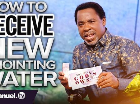Prophet TB Joshua- The gift of the new anointing water by God. Freely given, freely receive