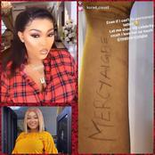 Tattoo Challenge: Mixed Reactions As Mercy Aigbe Got This In her DM From A Fan(Photos)