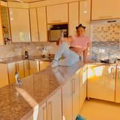Makhadzi built house for her mother. See the pictures
