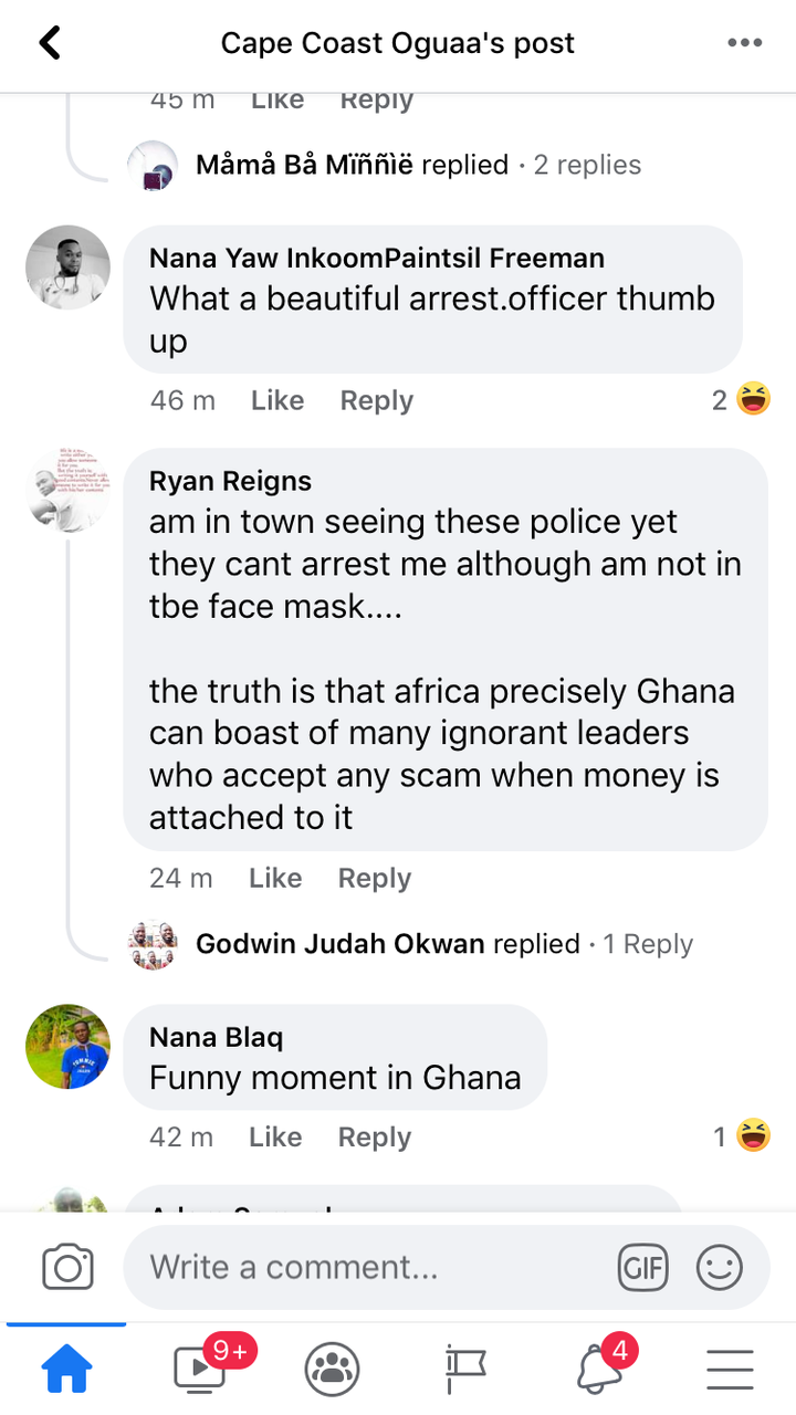 983151a86534449fa3d70c84c91b30b6?quality=uhq&resize=720 - A Number Of Persons Have Been Arrested In Cape Coast For Failing To Wear Face Mask; Ghanaians React