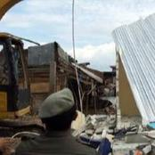 Mother Of 3 Slumps When POWA Demolished Stores In Lagos Market