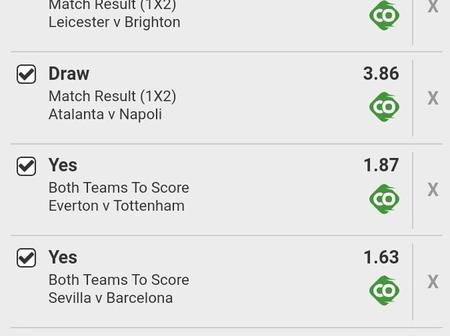 Super Friday's Multibet slip with over 2.5goals,GG and with High Odds for your mega win.