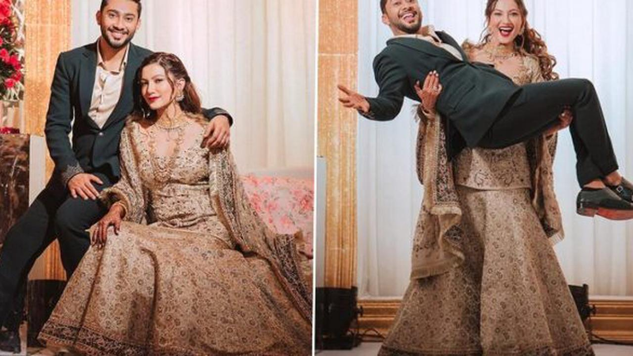 Gauahar Khan and Zaid Darbar Look Made For Each Other At Their Waleema Ceremony And We Can't Look Away (View Pics)