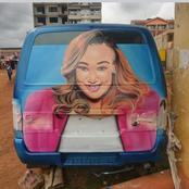 Betty Kyallo Gives Out This Offer After Seeing Her Graffiti On This PSV Vehicle